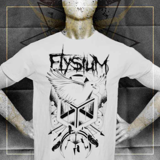 "ELYSIUM Men's T-shirt ""Eagle"" white"