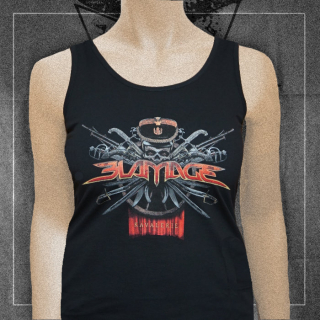 "BLAMAGE Girlie tank top ""Kavalerie"""