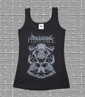 NOCTURNAL PESTILENCE Girlie tank top black