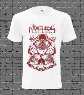 Male t-shirt Nocturnal Pestilence - white